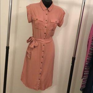 XS Button-Down Dress w/ Waist Tie - #A12
